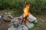 Un bon feu de camp - Laponie