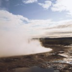 Le paisible Geysir, Islande