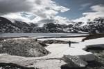 Traversée du pont de neige - Laponie