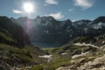 Lac du Cos en montant vers le Col de la Vache - GR738